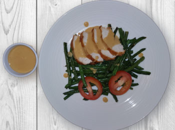 Oven Roasted Chicken and Green Beans with my Goto Vinaigrette