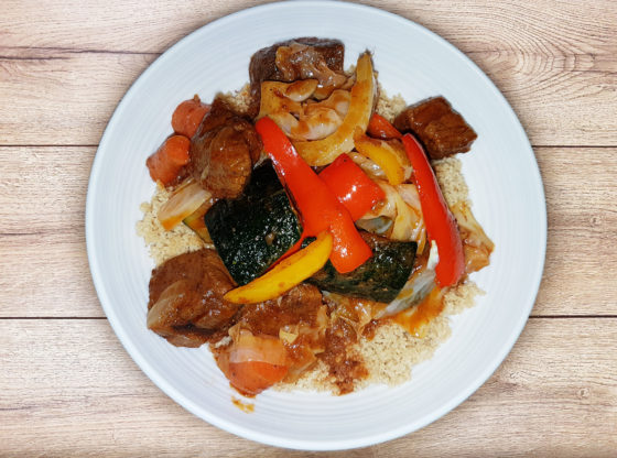 couscous with beef and vegetable stew